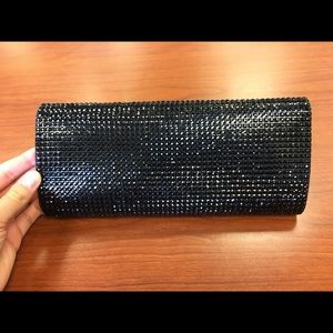 Black gem clutch purse